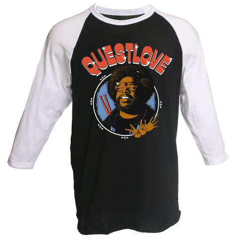 Questlove Retro 3/4 Sleeve Raglan T-Shirt