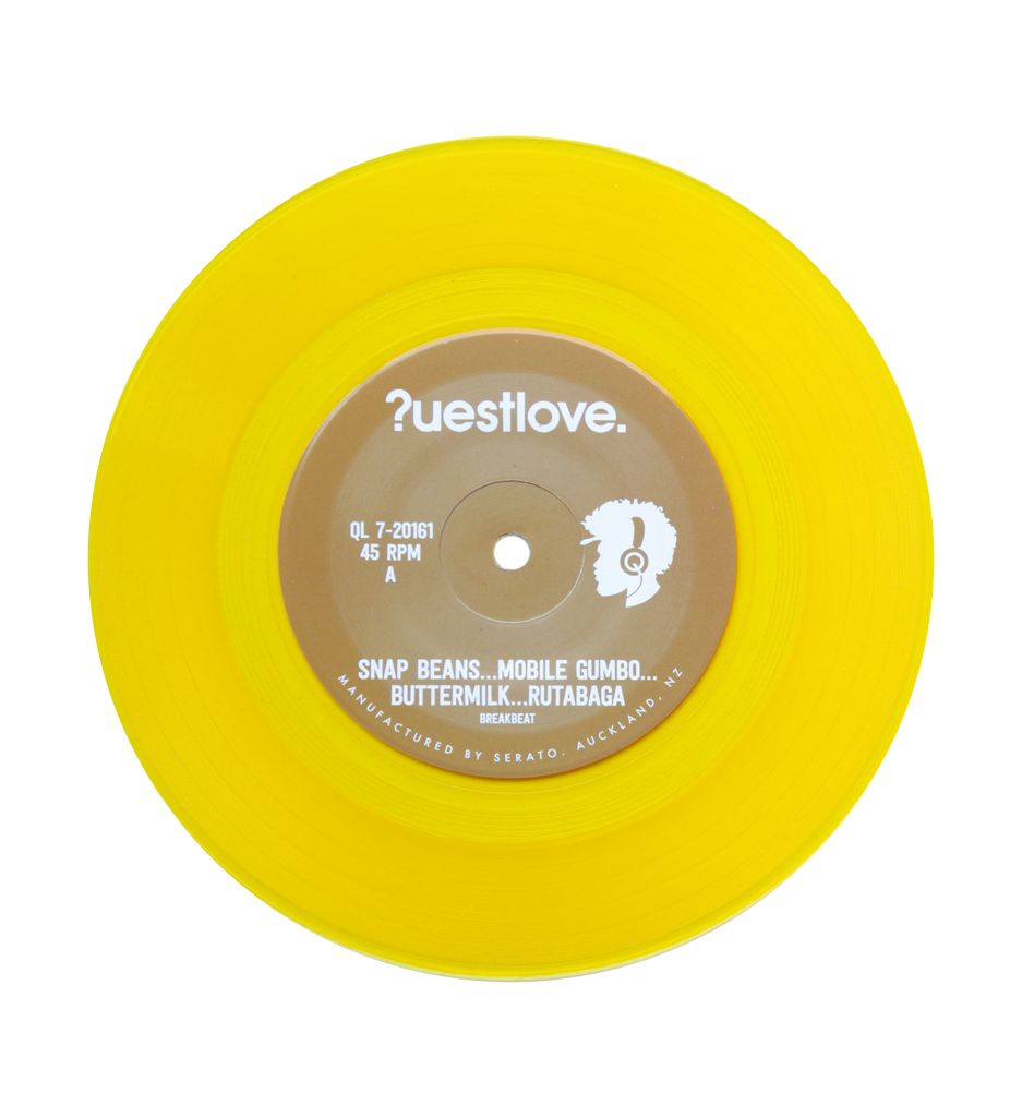 "Questlove Sufro Breaks 7"" #1 ""Snap Beans…Mobile Gumbo…Buttermilk…Rutabaga"""