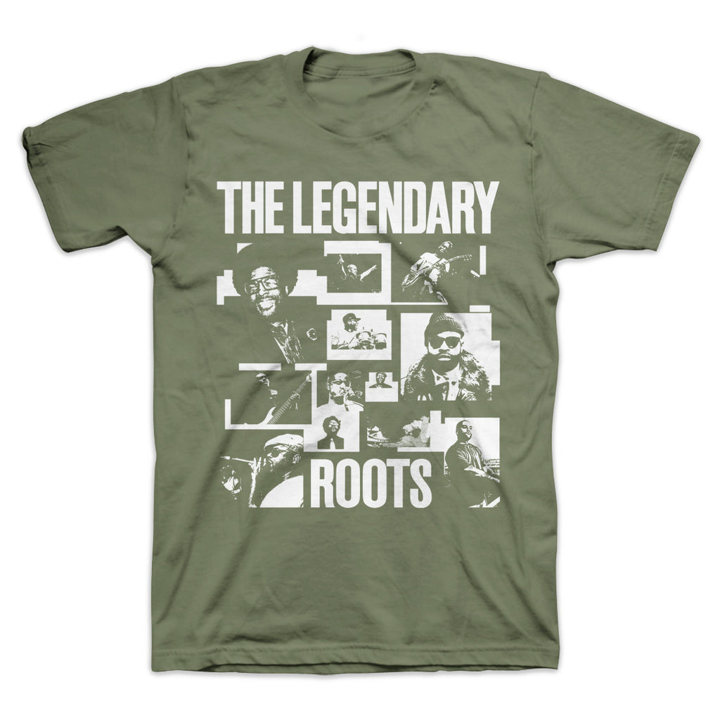 "The Roots ""Legendary Rockers"" T-Shirt Olive"