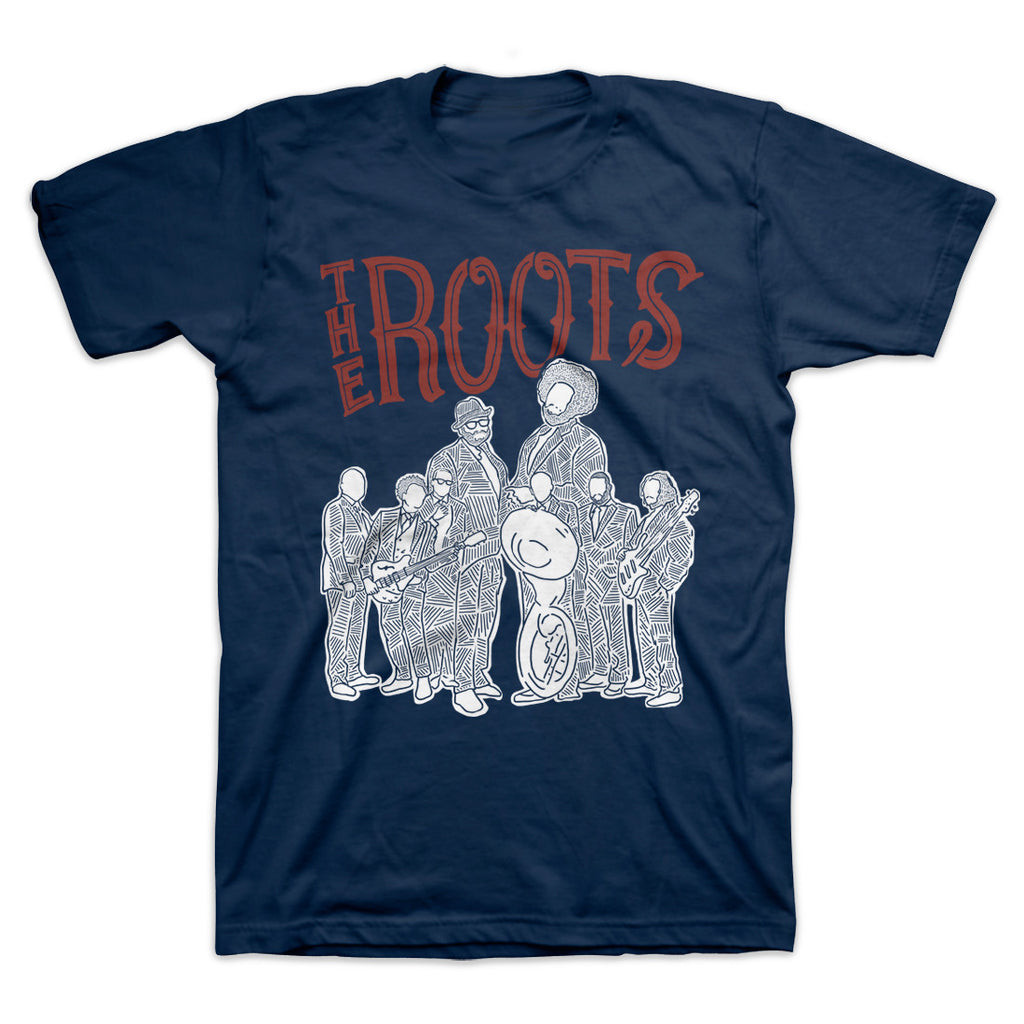 The Roots Sketch Navy T-Shirt