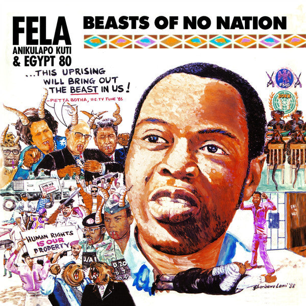 "Fela Kuti ""Beasts Of No Nation"" (1989) Vinyl LP"
