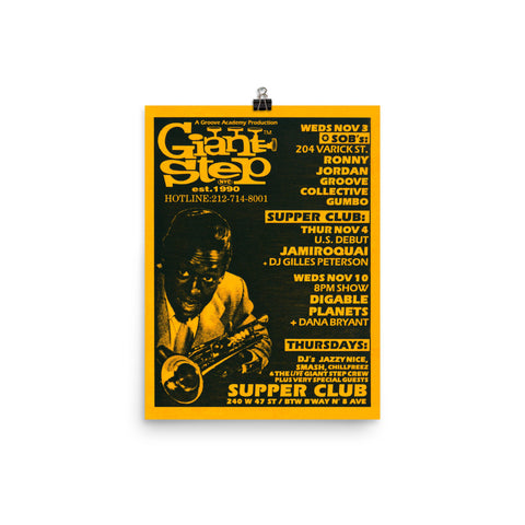 Jamiroquai (US Debut) & Digable Planets at Supper Club Concert Poster (1993)