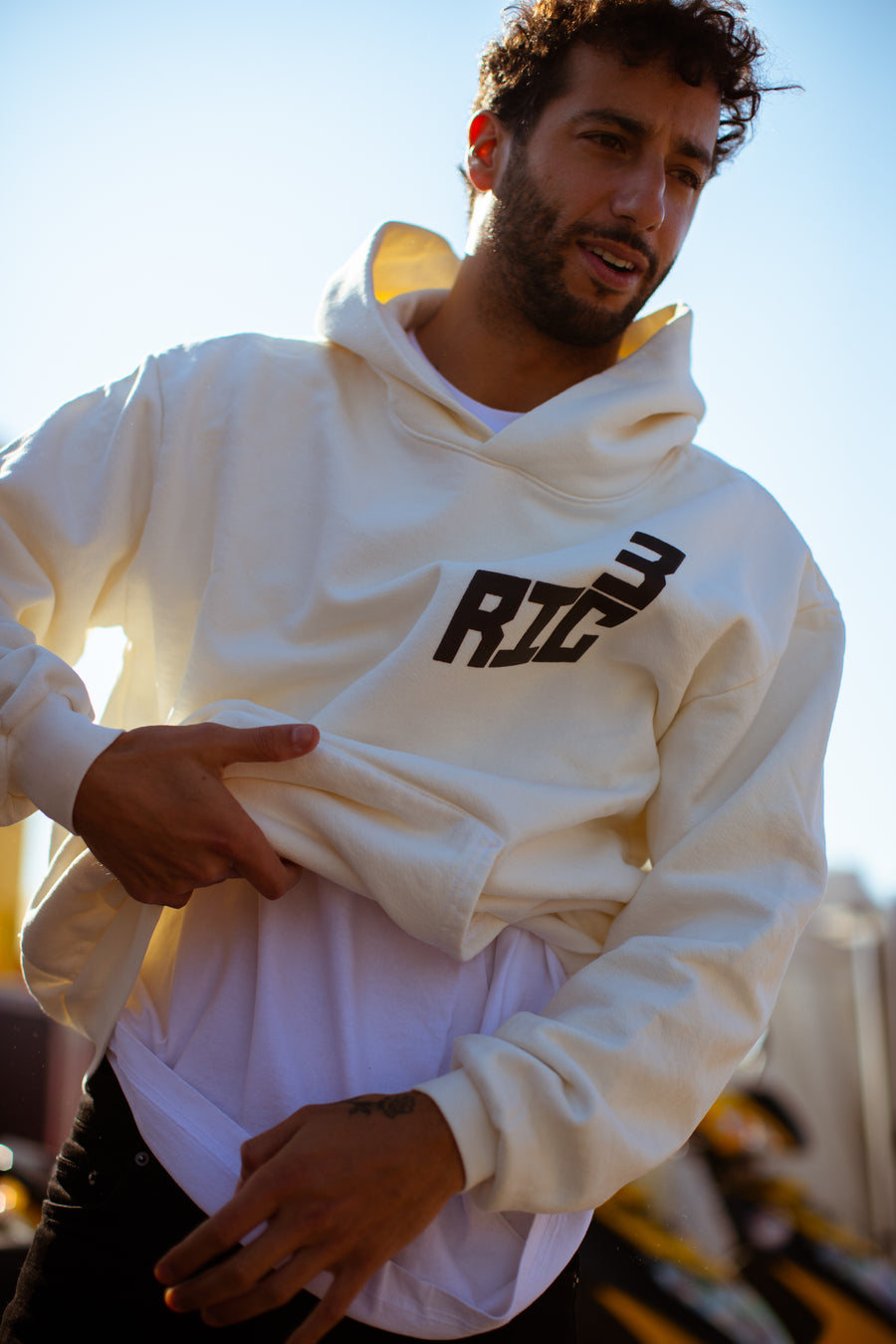 Race Service x DR White Hoodie