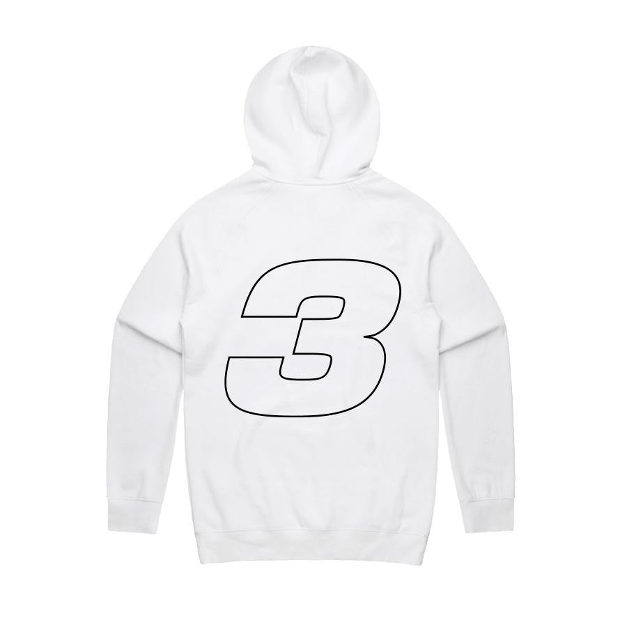 RIC3 Jersey Hoodie (White)