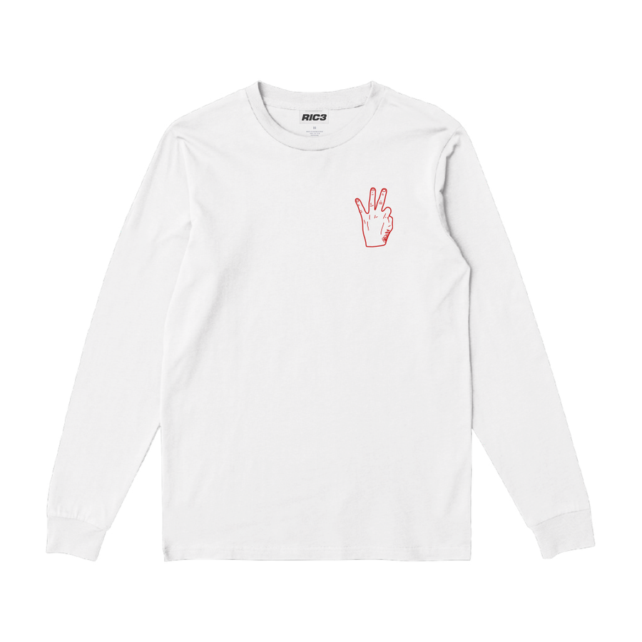 RIC3 Thank You Long Sleeve (White)