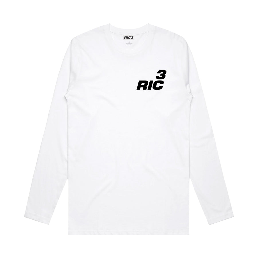 RIC3 Logo Hand Long Sleeve (White)