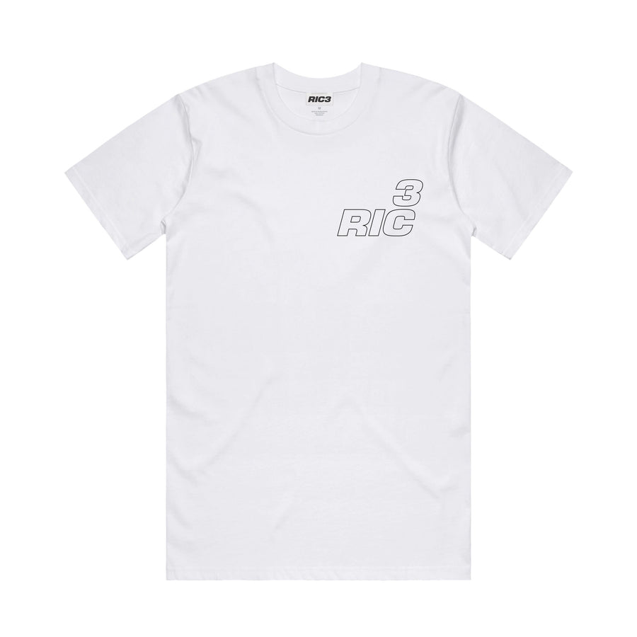 RIC3 Jersey Tee (White)