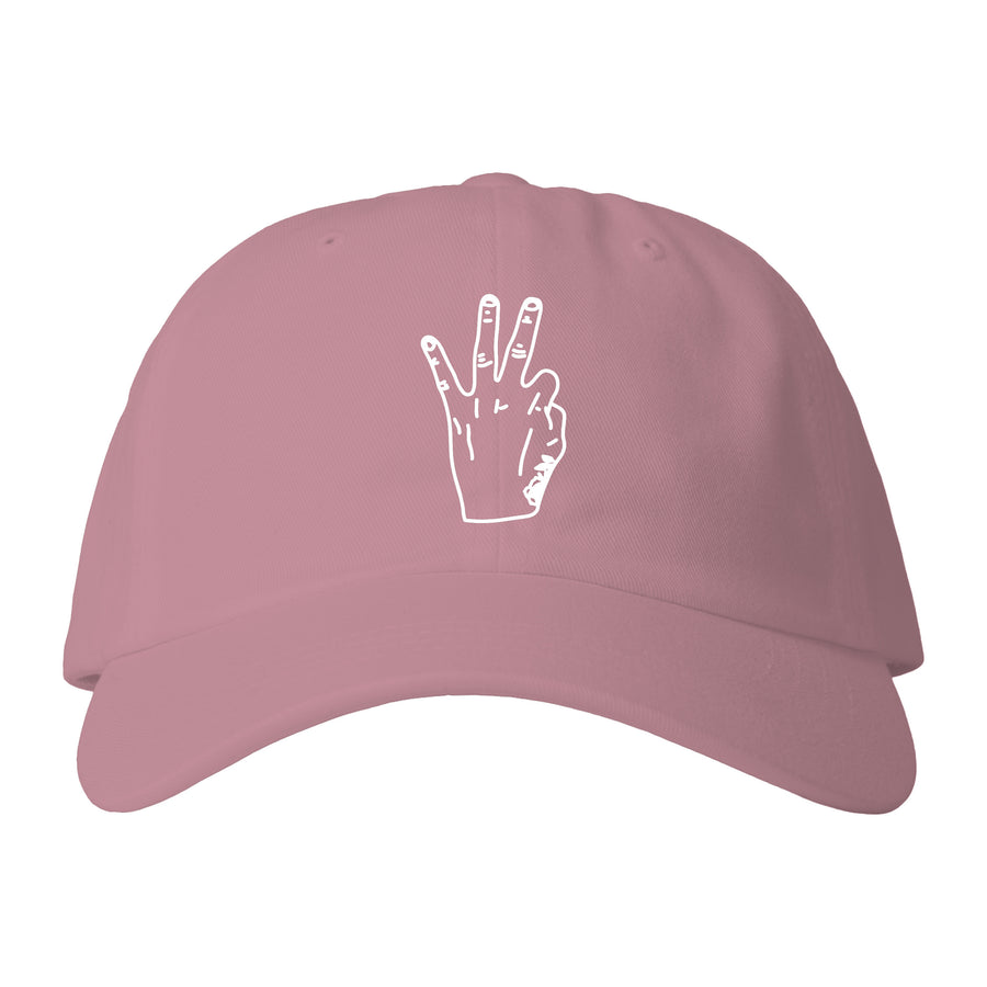 RIC3 Hand Dad Hat (Light Pink)