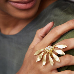 Abstract Flower Ring