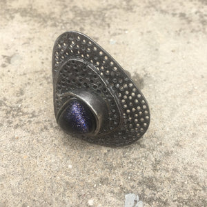 Purple Sunstone Ring