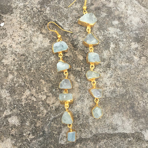 Aquamarine Danglers