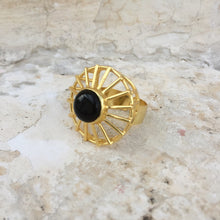 Load image into Gallery viewer, Black Onyx Cage Ring