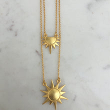 Load image into Gallery viewer, Double Layered Sun Necklace
