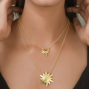 Double Layered Sun Necklace