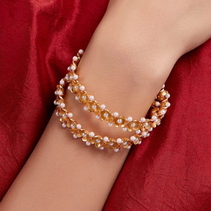 Pearl Bangles (Set of 2)