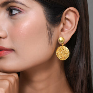 Round Mesh Earrings