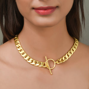 Statement Chain Short Choker Necklace