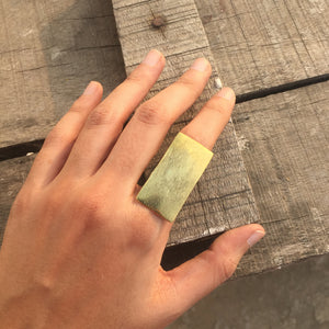 Statement Brick Ring