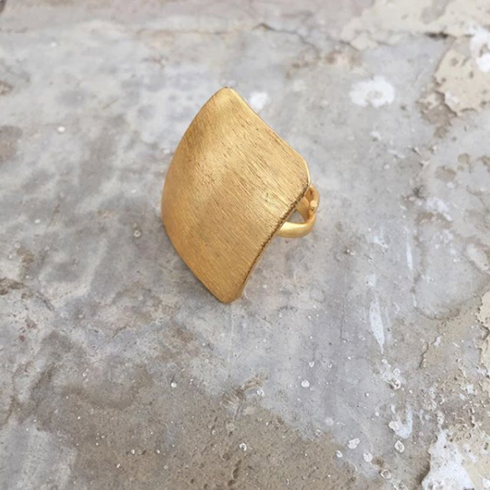 Textured Block Ring