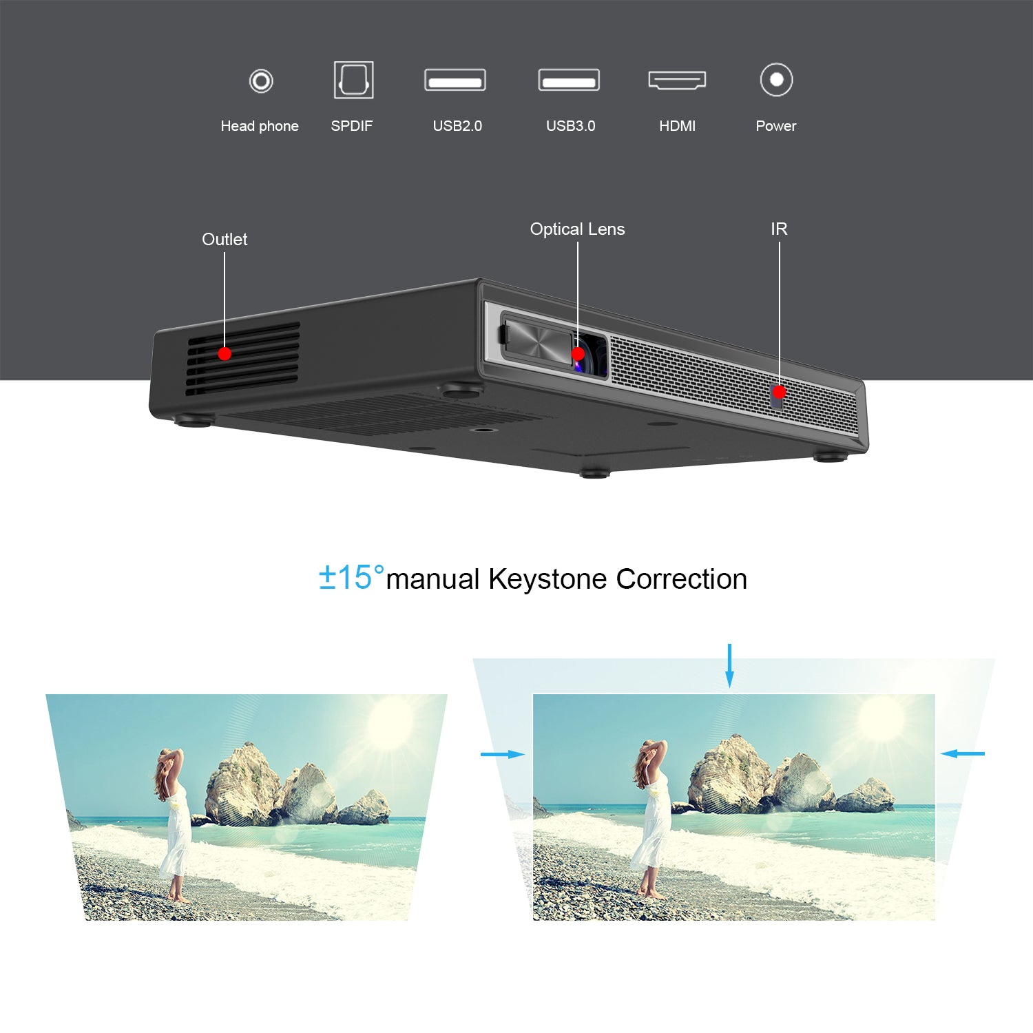 Toumei T5 Portable Projector Features 06