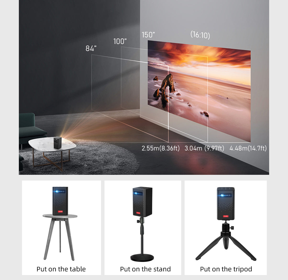 Toumei C900 Portable Smart Mini Projector Details 12