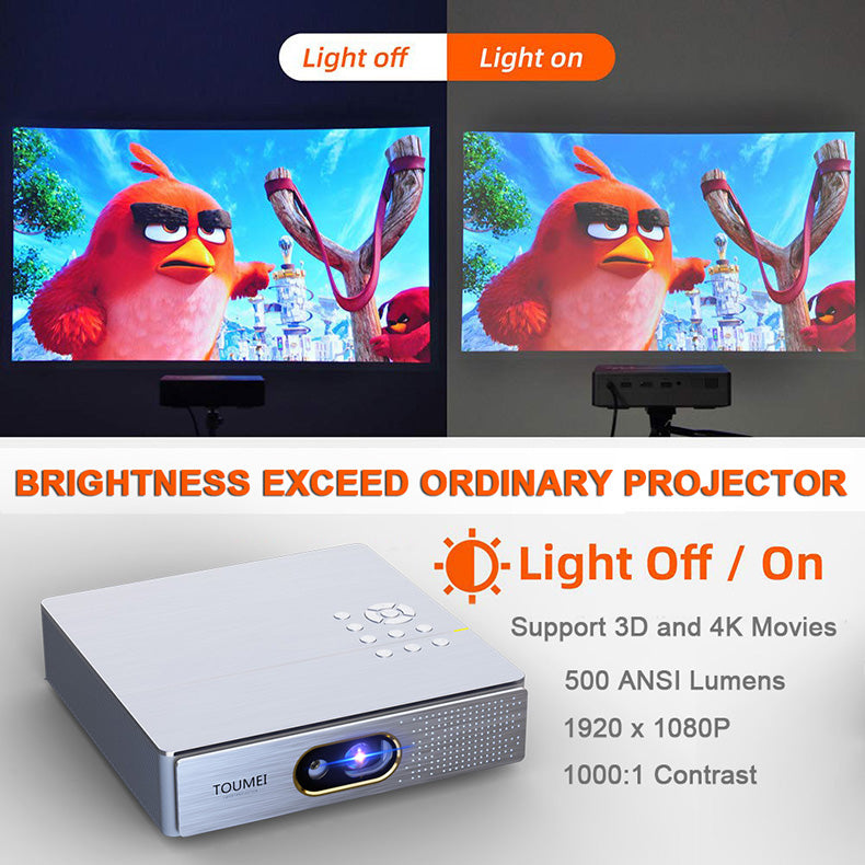 Toumei S9 Short Throw Portable Projector Details 21