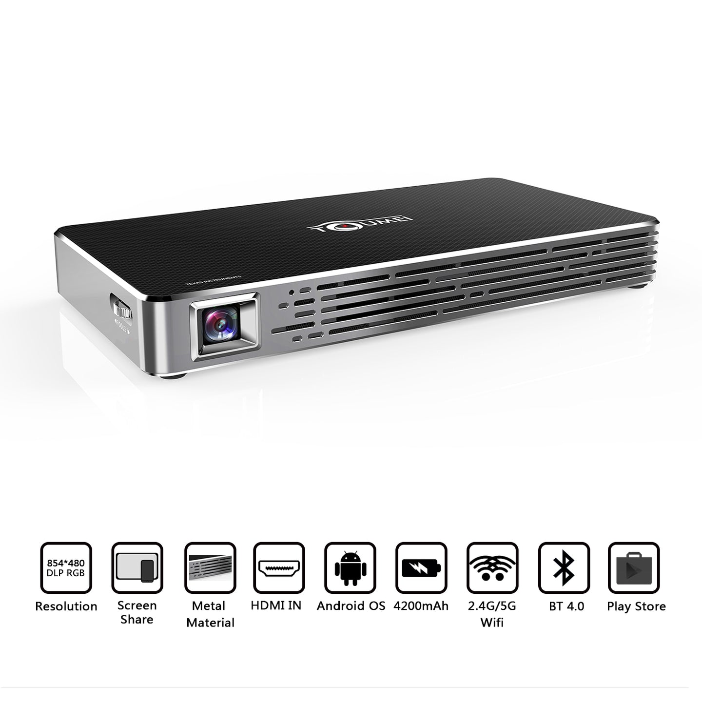 Toumei C800S Mini Smart Projector