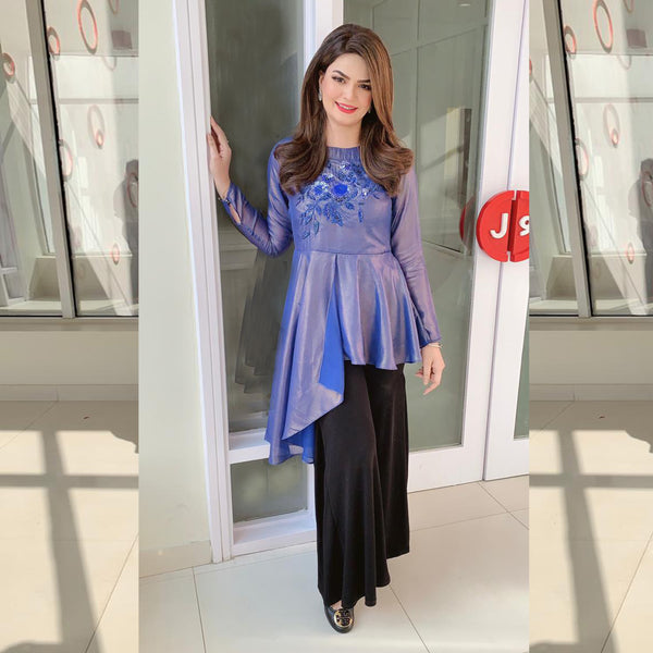 BLUE EMBROIDERED DRESS (SSP2101DR20)