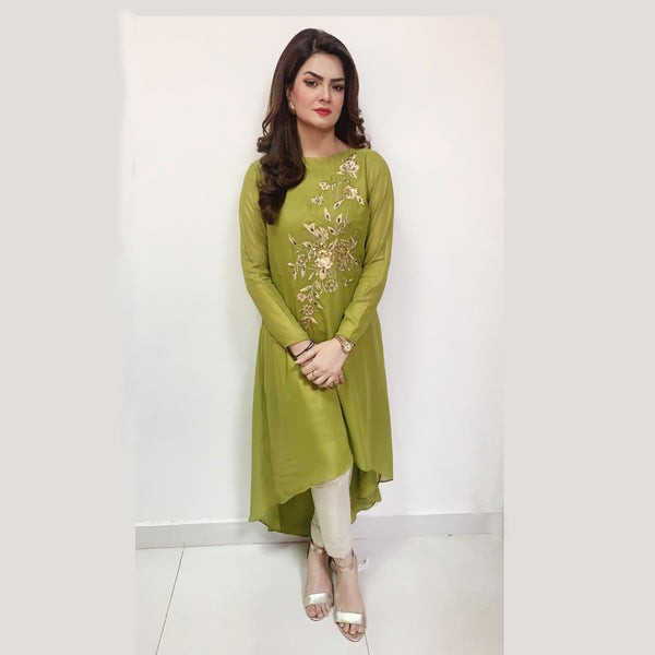 GREEN EMBROIDERED DRESS (SSP2101DR14)