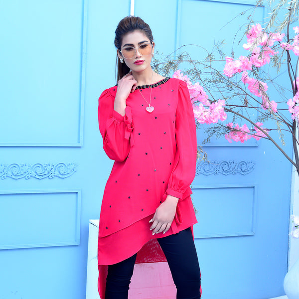 MAGENTA EMBROIDERED DRESS (SSP2101DR42)