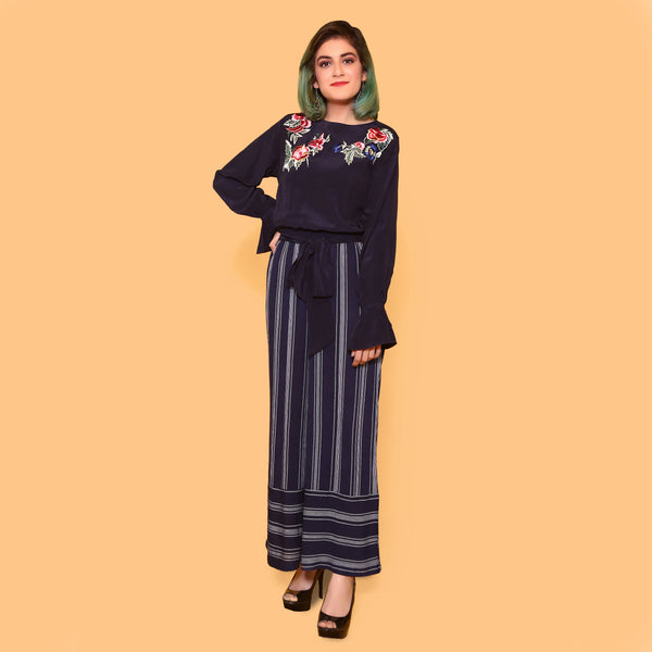 NAVY EMBROIDERED JUMPSUIT (SWI2011JS67)