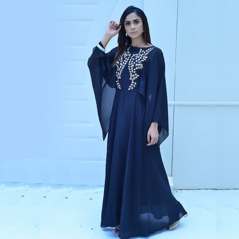 BLACK EMBROIDERED MAXI (SSP2101MD36)