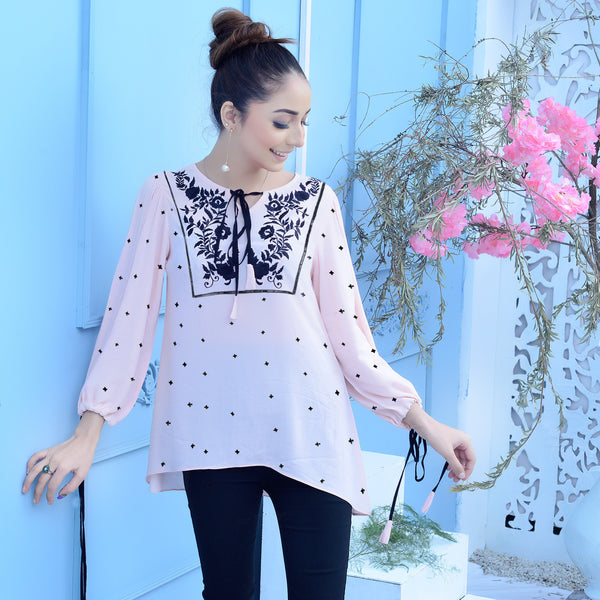 PINK EMBROIDERED TOP (SSP2102TU67)