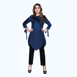NAVY EMBROIDERED TOP (SSP2002TU30)