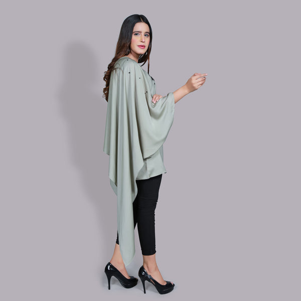 MINT GREEN EMBROIDERED DRESS (SSP2101DR41)
