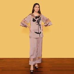 SKIN EMBROIDERED TWO PIECE SUIT (SWI2010SU42)