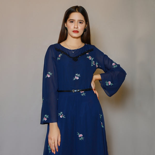 NAVY EMBROIDERED MAXI (SE22007MD29)