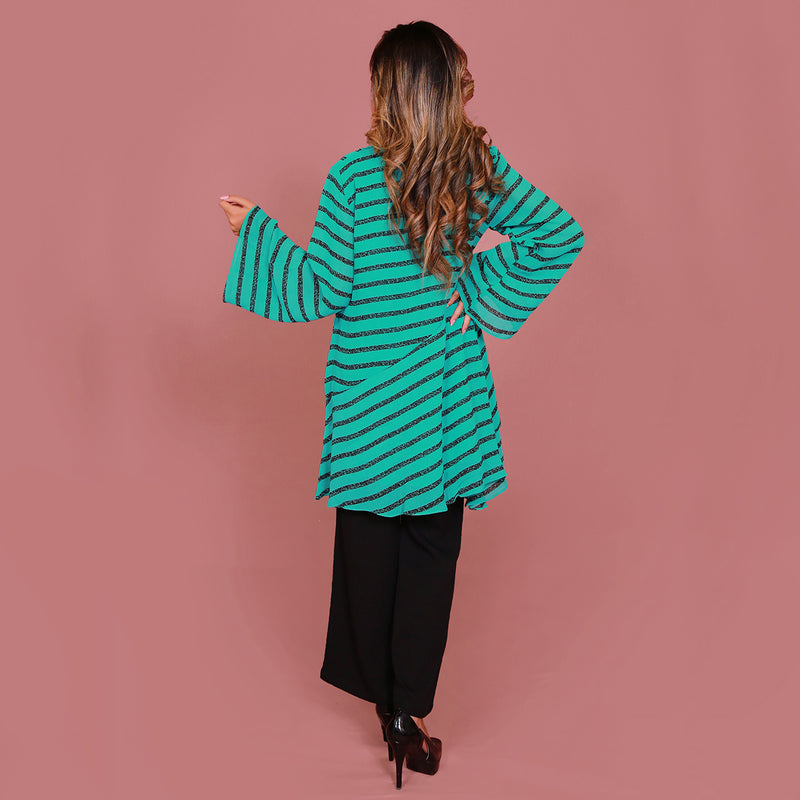 GREEN STRIPES DRESS (SE22007DR01)