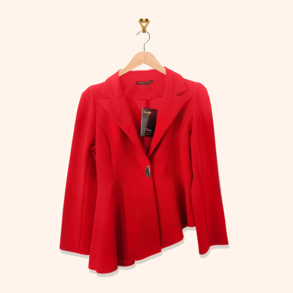 RED FLARED BLAZER