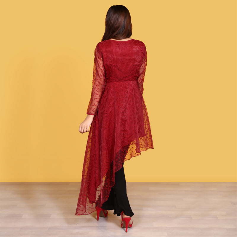 MAROON DRESS (SWI2010DR18)