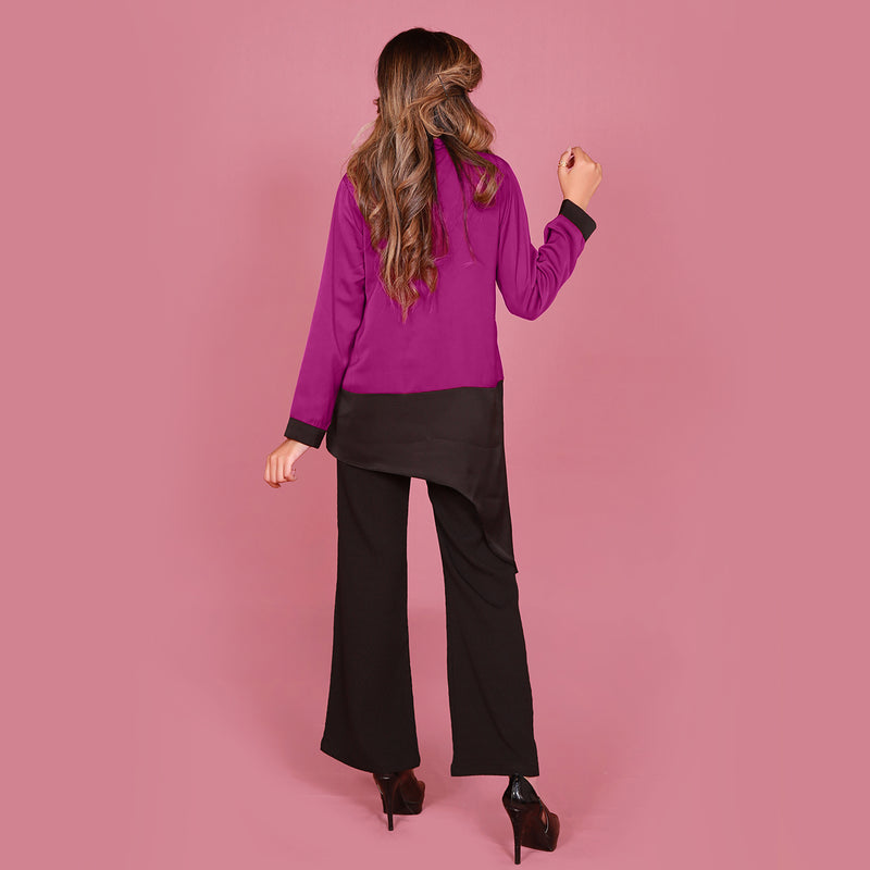 BLACK WITH STRIPPER TROUSER (S19E207T039)
