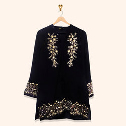 BLACK EMBROIDERY SHIRT