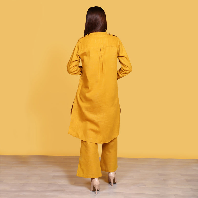 MUSTARD TWO PIECE SUIT