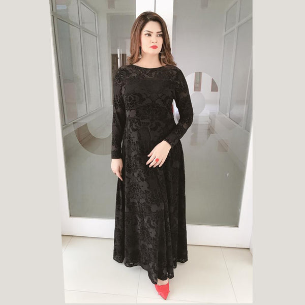 BLACK  MAXI DRESS (SE12004MD07)