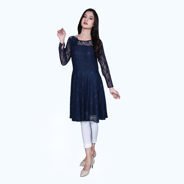 NAVY NET DRESS (SSP2001DR29)
