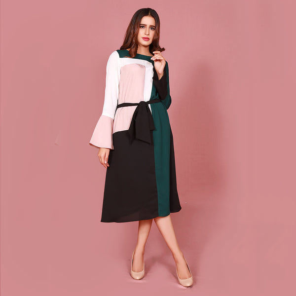 COLOUR BLOCK DRESS (SFA2009DR15)