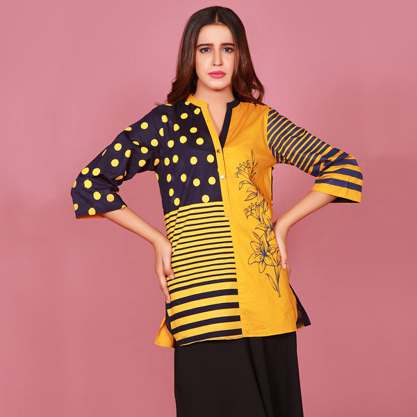 COLOR BLOCK PRINTED TOP (SSP2101TU12)