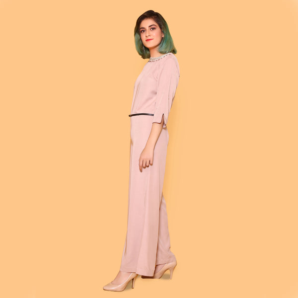 TEA PINK JUMPSUIT (SSP21015S24))