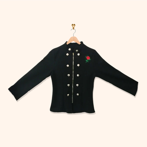 BLACK EMBROIDERY JACKET