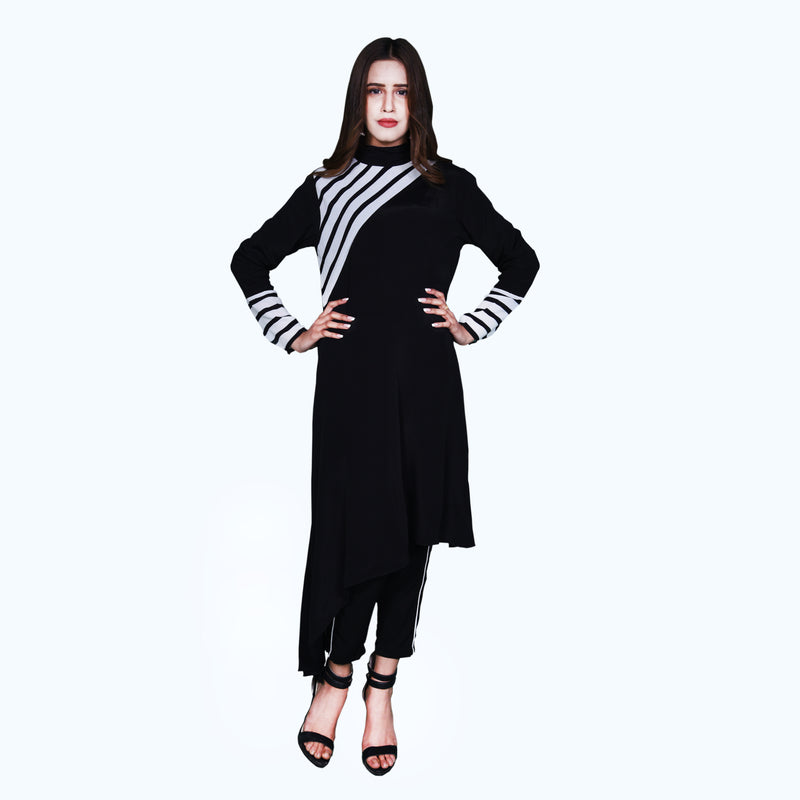 BLACK & WHITE DRESS (SSP2001DR30)